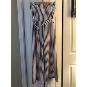Dresses & Skirts - Navy and white striped jumpsuit